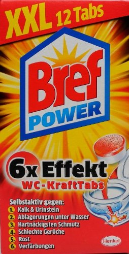 bref power kraftpaket 12tabs wc reiniger wc reiniger. Black Bedroom Furniture Sets. Home Design Ideas