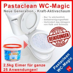 2 5kg eimer pastaclean kraft aktivschaum wc pulver 1 kilo 10 euro wc reiniger. Black Bedroom Furniture Sets. Home Design Ideas